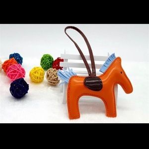Rodeo Horse Leather Purse Charm